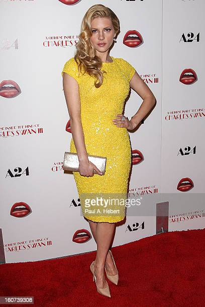 Actress Katheryn Winnick arrives at the premiere of A24's 'A Glimpse Inside The Mind of Charles Swan III' held at the ArcLight Hollywood on February...