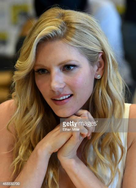Actress Katheryn Winnick attends a media room for the History series 'Vikings' during ComicCon International 2014 at the Hilton San Diego Bayfront...