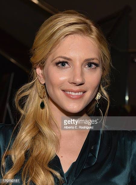 Actress Katheryn Winnick attends a reception for a screening and QA for The History Channel's 'Vikings' at Leonard H Goldenson Theatre on June 7 2013...
