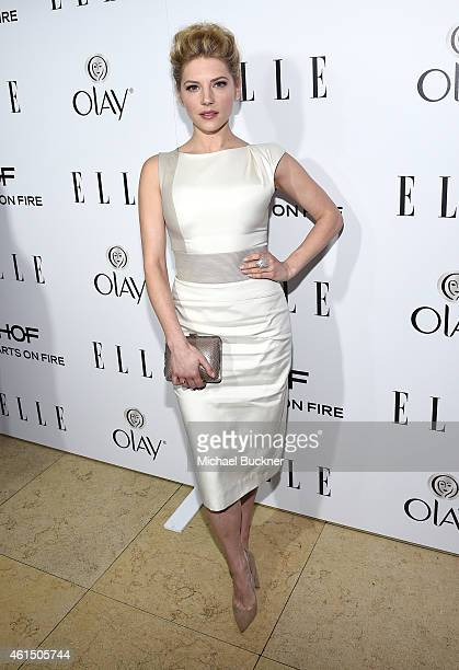 Actress Katheryn Winnick attends ELLE's Annual Women in Television Celebration on January 13 2015 at Sunset Tower in West Hollywood California...