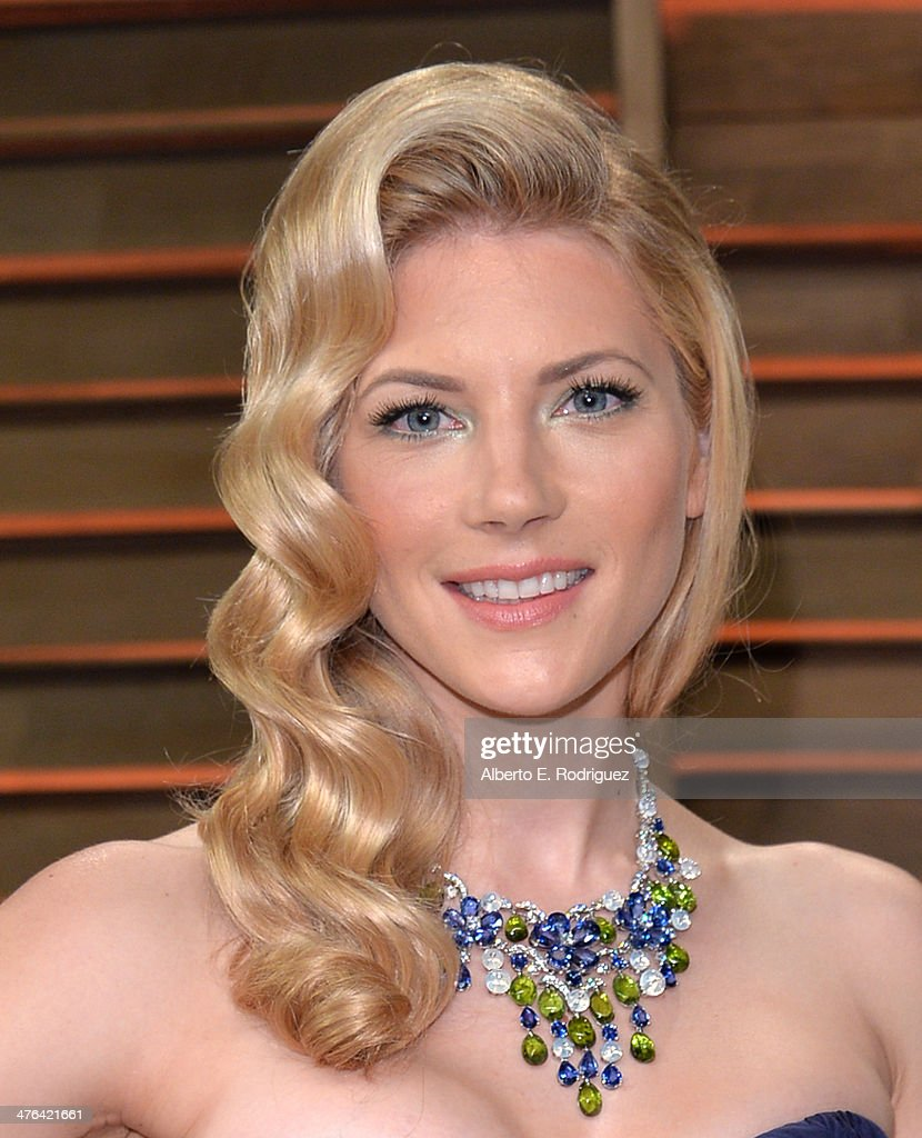 Actress Katheryn Winnick attends the 2014 Vanity Fair Oscar Party hosted by Graydon Carter on March 2, 2014 in West Hollywood, California.