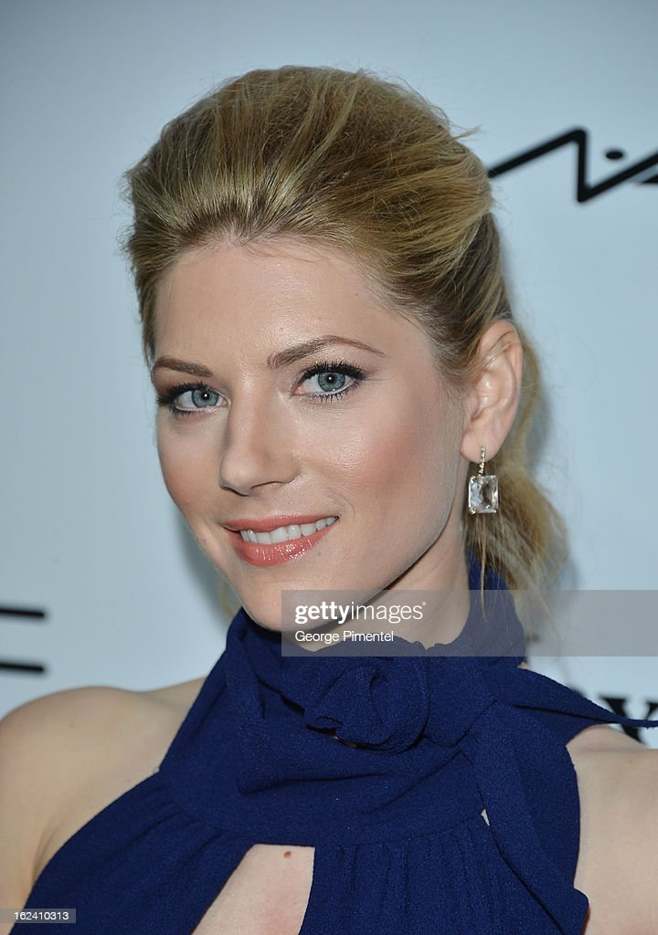 Actress Katheryn Winnick attends the 6th Annual Women In Film Pre-Oscar Party hosted by Perrier Jouet, MAC Cosmetics and MaxMara at Fig & Olive on February 22, 2013 in Los Angeles, California.
