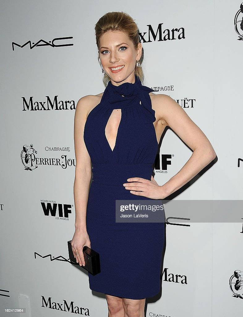 Actress Katheryn Winnick attends the 6th annual Women In Film pre-Oscar cocktail party at Fig & Olive Melrose Place on February 22, 2013 in West Hollywood, California.
