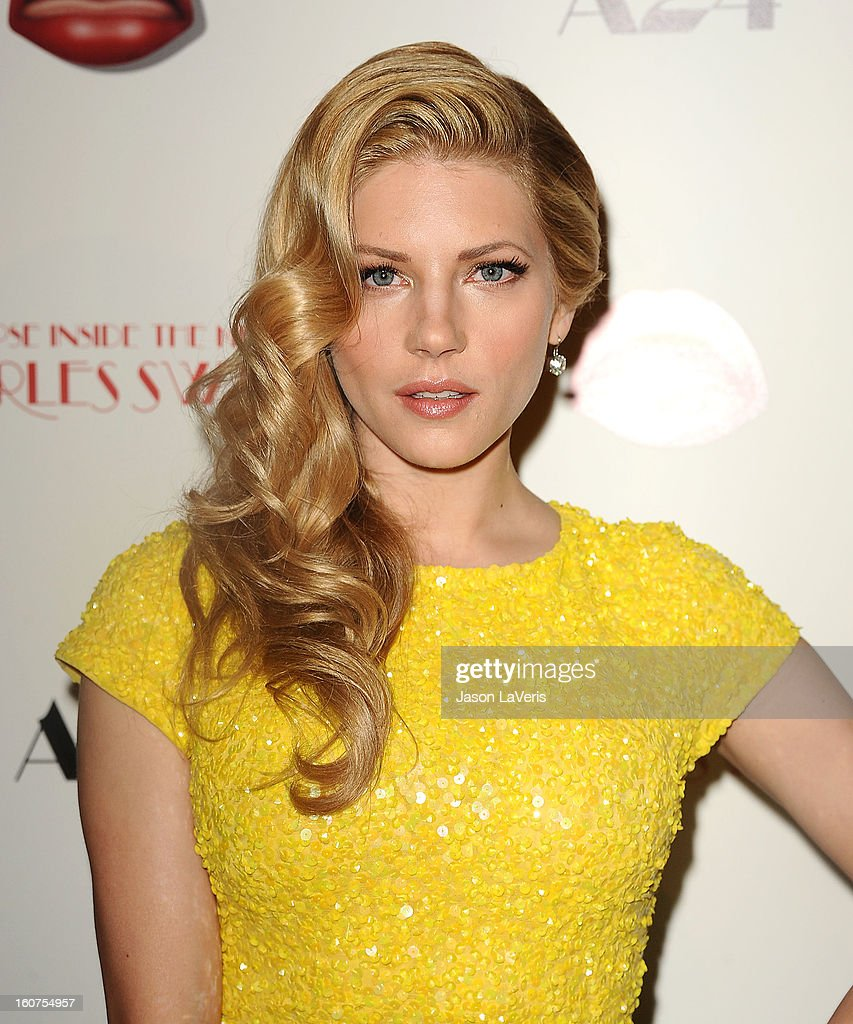 Actress Katheryn Winnick attends the premiere of 'A Glimpse Inside The Mind Of Charlie Swan III' at ArcLight Hollywood on February 4, 2013 in Hollywood, California.