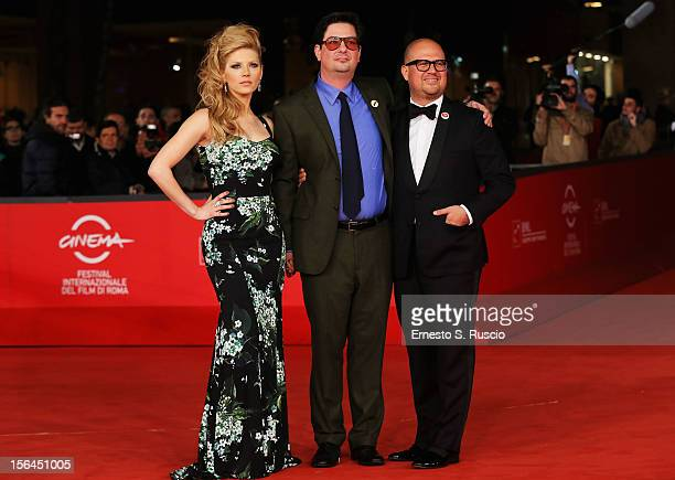 Actress Katheryn Winnick director Roman Coppola and producer Youree Henley attend the 'A Glimpse Inside The Mind Of Charles Swan III' Premiere during...