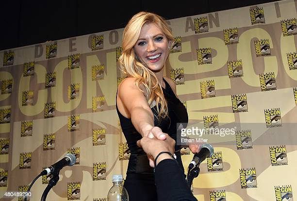 Actress Katheryn Winnick greets fans after a panel for the History series 'Vikings' during ComicCon International 2015 at the San Diego Convention...