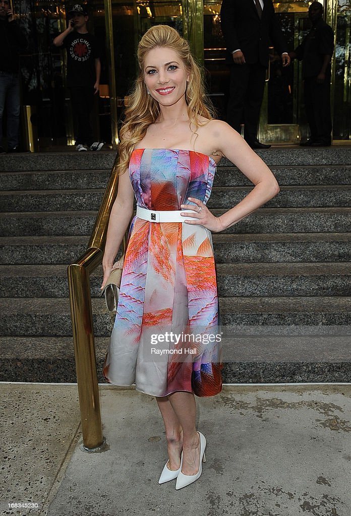 Actress Katheryn Winnick is seen outside Trump Hotel on May 8, 2013 in New York City.