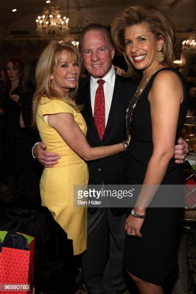 Actress Kathie Lee Gifford Frank Gifford and TV Personality Hoda Kotb attend the American Cancer Society's 2010 'Mother of the Year' award luncheon...