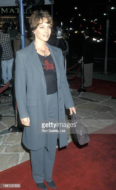 Actress Kathleen Quinlan attends the world premiere of 'The Matrix' on March 24 1999 at Mann Village Theater in Westwood California