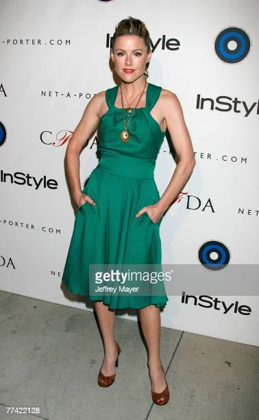 Actress Kathleen Robertson arrives to the In Style CFDA Event at Morton's Restaurant on October 16 2007 in West Hollywood California