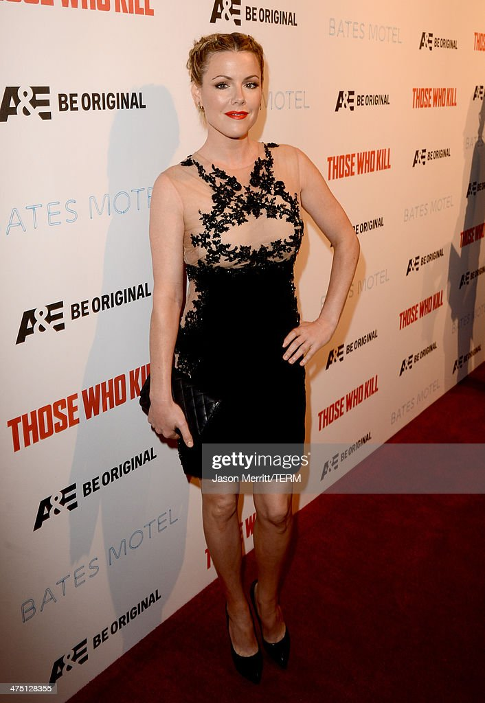 Actress <a gi-track='captionPersonalityLinkClicked' href=/galleries/search?phrase=Kathleen+Robertson&family=editorial&specificpeople=544682 ng-click='$event.stopPropagation()'>Kathleen Robertson</a> attends A&E's 'Bates Motel' and 'Those Who Kill' Premiere Party at Warwick on February 26, 2014 in Hollywood, California.