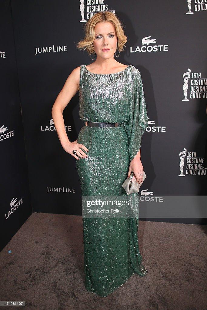 Actress <a gi-track='captionPersonalityLinkClicked' href=/galleries/search?phrase=Kathleen+Robertson&family=editorial&specificpeople=544682 ng-click='$event.stopPropagation()'>Kathleen Robertson</a> attends the 16th Costume Designers Guild Awards with presenting sponsor Lacoste at The Beverly Hilton Hotel on February 22, 2014 in Beverly Hills, California.