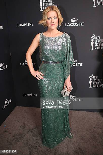 Actress Kathleen Robertson attends the 16th Costume Designers Guild Awards with presenting sponsor Lacoste at The Beverly Hilton Hotel on February 22...