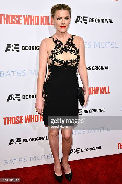 Actress Kathleen Robertson attends the premiere party for AE's Season 2 Of 'Bates Motel' series premiere of 'Those Who Kill' at Warwick on February...
