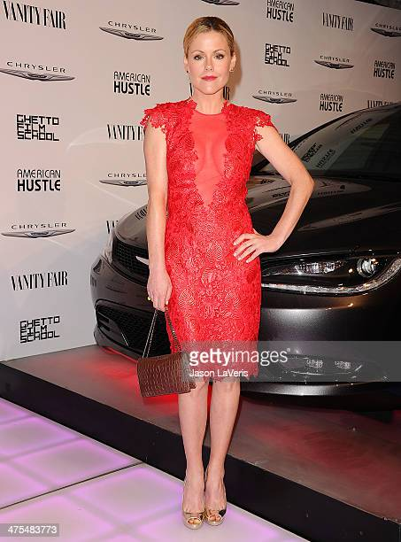 Actress Kathleen Robertson attends the Vanity Fair Campaign Hollywood 'American Hustle' toast at Ago Restaurant on February 27 2014 in West Hollywood...