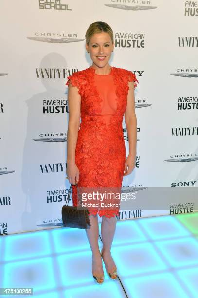 Actress Kathleen Robertson attends Vanity Fair and Chrysler Toast American Hustle during Vanity Fair Campaign Hollywood at Ago on February 27 2014 in...
