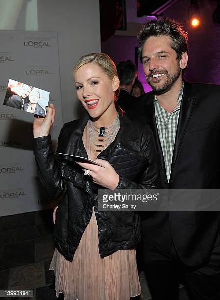 Actress Kathleen Robertson attends Vanity Fair L'Oréal Paris Fiathosted DJ Night in support of The Pablove Foundation on Saturday on February 25 2012...