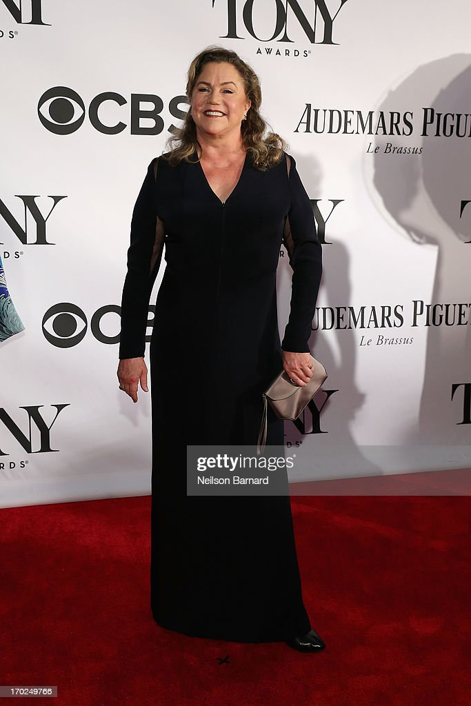 Actress <a gi-track='captionPersonalityLinkClicked' href=/galleries/search?phrase=Kathleen+Turner&family=editorial&specificpeople=202649 ng-click='$event.stopPropagation()'>Kathleen Turner</a> attends The 67th Annual Tony Awards at Radio City Music Hall on June 9, 2013 in New York City.