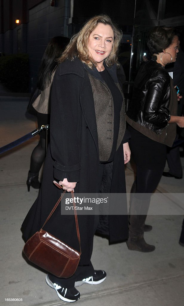 Actress Kathleen Turner is seen on April 2, 2013 in New York City.