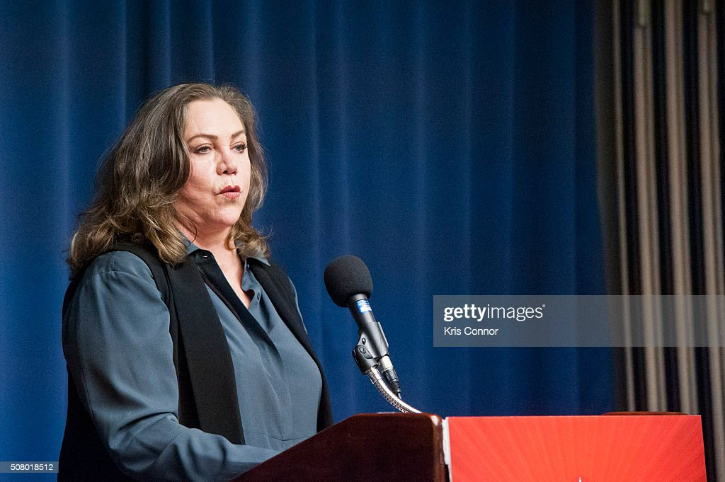 Actress Kathleen Turner speaks during the 'Working To Get Big Money Out Of Politics Forum' press conference at The National Press Club on February 2, 2016 in Washington, DC.