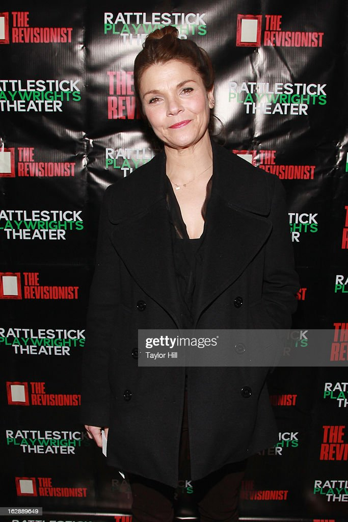 Actress Kathryn Erbe attends 'The Revisionist' Opening Night at Cherry Lane Theatre on February 28, 2013 in New York City.