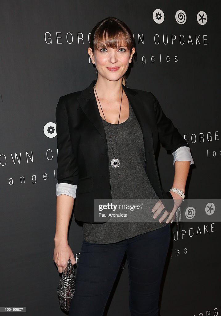 Actress Kathryn Fiore attends the Georgetown Cupcakes Los Angeles grand opening at Georgetown Cupcake Los Angeles on November 15, 2012 in Los Angeles, California.
