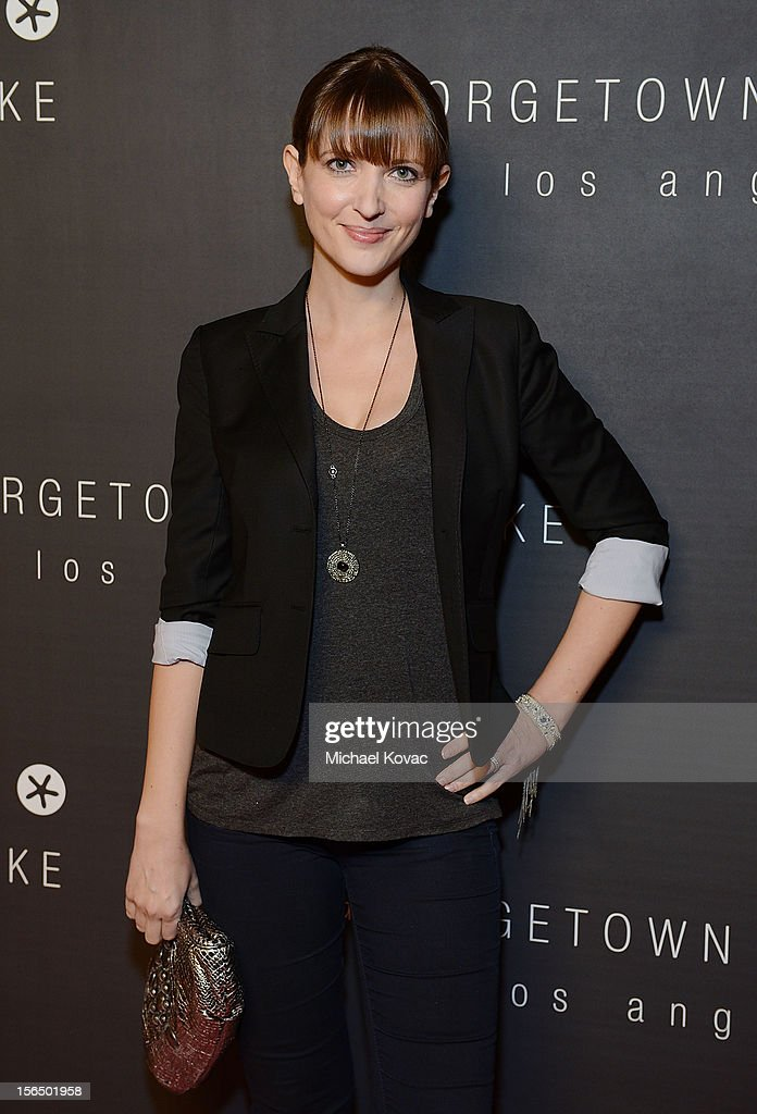 Actress Kathryn Fiore attends the Los Angeles Grand Opening of Georgetown Cupcake Los Angeles on November 15, 2012 in Los Angeles, California.