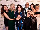Actress Kathryn Hahn actress Judith Light show creator/director Jill Soloway actor Jeffrey Tambor actress Amy Landecker and actress Melora Hardin...