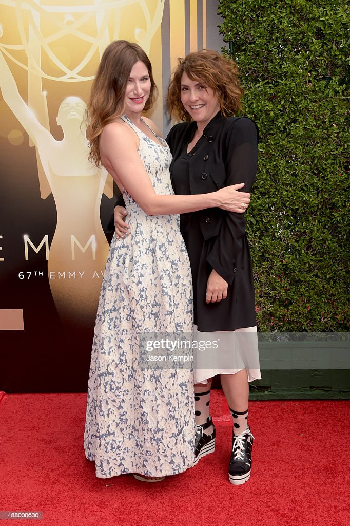 Actress Kathryn Hahn (L) and writer/director Jill Soloway attend the 2015 Creative Arts Emmy Awards at Microsoft Theater on September 12, 2015 in Los Angeles, California.