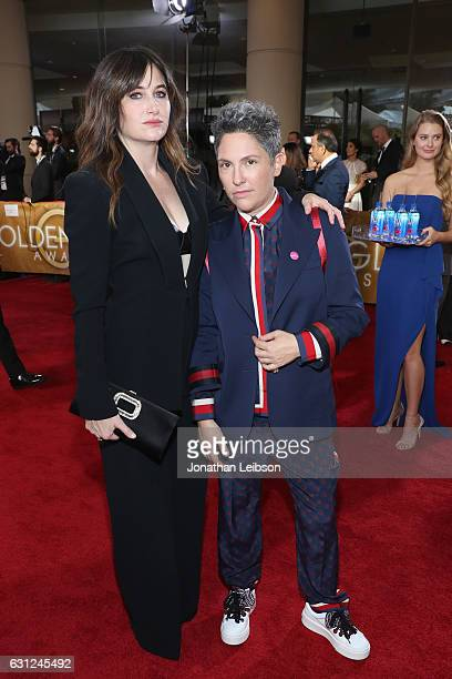 Actress Kathryn Hahn and writer/producer Jill Soloway at the 74th annual Golden Globe Awards sponsored by FIJI Water at The Beverly Hilton Hotel on...