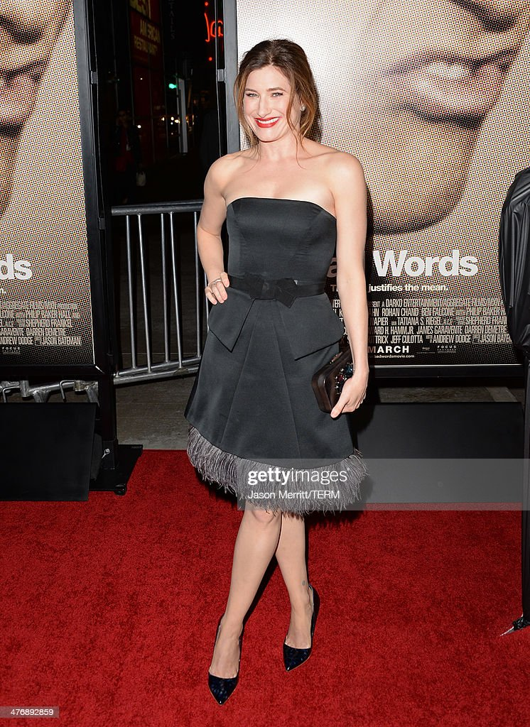 Actress <a gi-track='captionPersonalityLinkClicked' href=/galleries/search?phrase=Kathryn+Hahn&family=editorial&specificpeople=221548 ng-click='$event.stopPropagation()'>Kathryn Hahn</a> arrives at the premiere of Focus Features' 'Bad Words' at ArcLight Cinemas Cinerama Dome on March 5, 2014 in Hollywood, California.