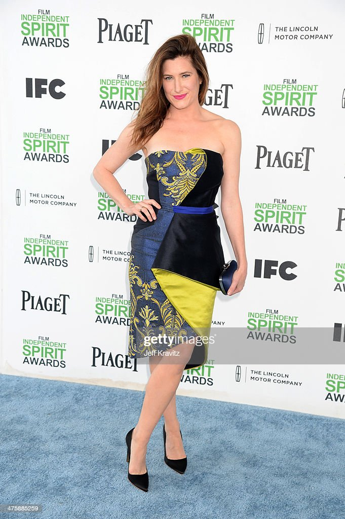 Actress <a gi-track='captionPersonalityLinkClicked' href=/galleries/search?phrase=Kathryn+Hahn&family=editorial&specificpeople=221548 ng-click='$event.stopPropagation()'>Kathryn Hahn</a> attends the 2014 Film Independent Spirit Awards on March 1, 2014 in Santa Monica, California.