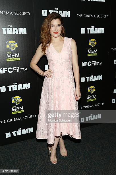 Actress Kathryn Hahn attends The Cinema Society Banana Boat host the New York premiere of IFC Films' 'The D Train' at Sunshine Landmark on May 6 2015...