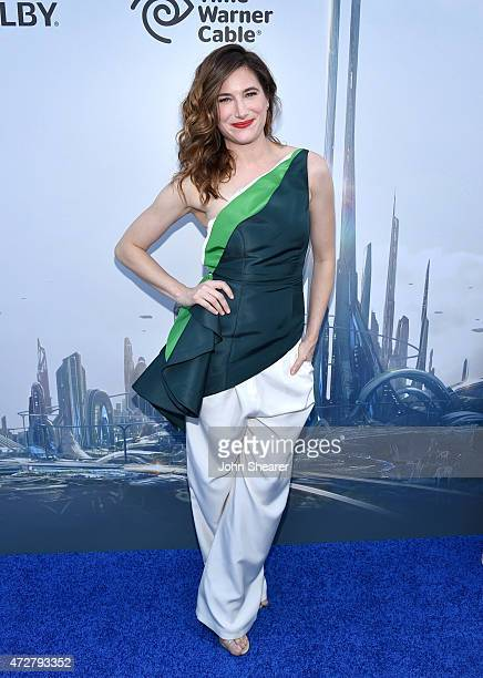 Actress Kathryn Hahn attends the premiere of Disney's 'Tomorrowland' at AMC Downtown Disney 12 Theater on May 9 2015 in Anaheim California