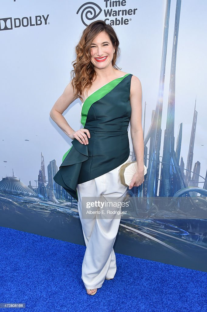 Actress Kathryn Hahn attends the world premiere of Disney's 'Tomorrowland' at Disneyland, Anaheim on May 9, 2015 in Anaheim, California.