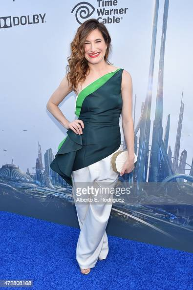 Actress Kathryn Hahn attends the world premiere of Disney's 'Tomorrowland' at Disneyland Anaheim on May 9 2015 in Anaheim California