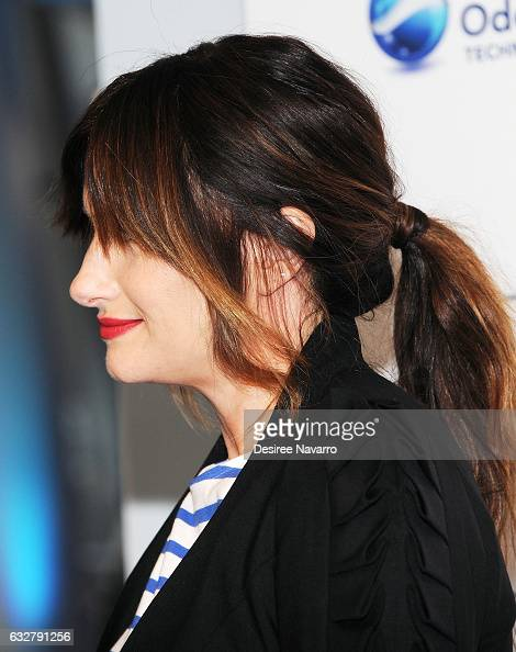 Actress Kathryn Hahn hair detail attends 'I Love You But Sometimes You Stink Febreeze Campaign Launch' at The IAC Building on January 26 2017 in New...