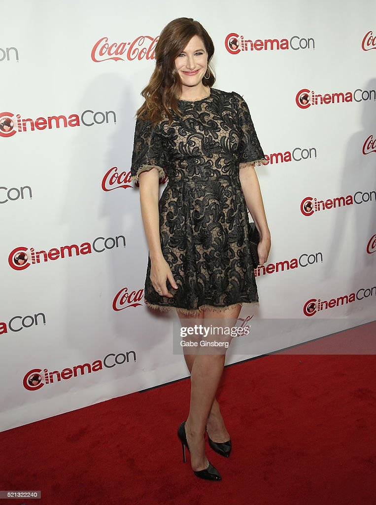Actress Kathryn Hahn one of the recipients of the Female Stars of the Year Award attends the CinemaCon Big Screen Achievement Awards at Omnia...