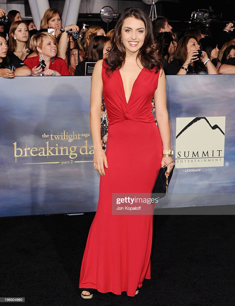 Actress Kathryn McCormick arrives at the Los Angeles Premiere 'The Twilight Saga: Breaking Dawn - Part 2' at Nokia Theatre L.A. Live on November 12, 2012 in Los Angeles, California.