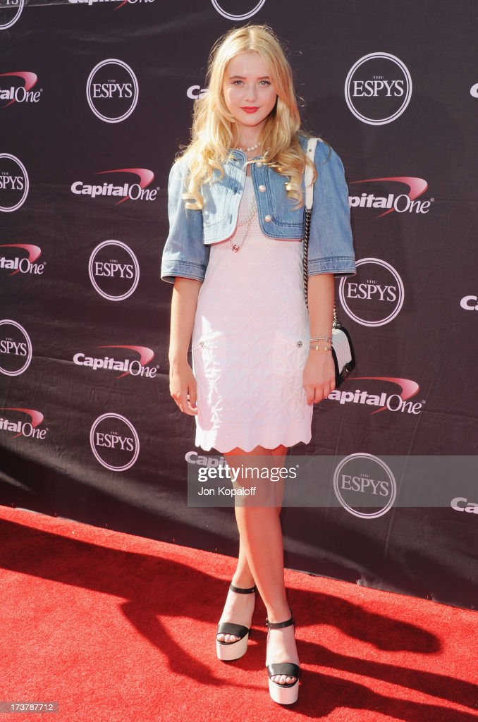 Actress Kathryn Newton arrives at The 2013 ESPY Awards at Nokia Theatre L.A. Live on July 17, 2013 in Los Angeles, California.