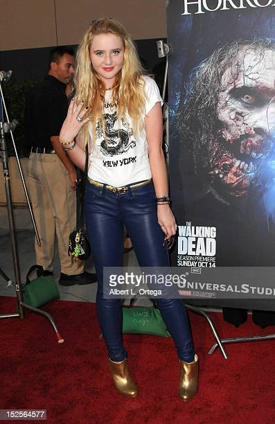Actress Kathryn Newton arrives for Universal Studios Hollywood 'Halloween Horror Night' and Eye Gore Awards Kick Off Party held at Universal Studios...