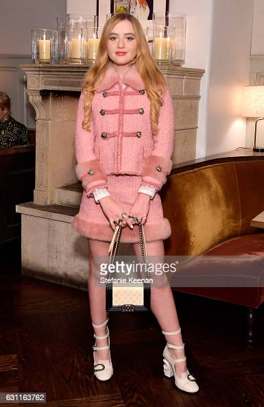 Actress Kathryn Newton attends Lynn Hirschberg Celebrates W Magazine's It Girls with Stuart Weitzman at AOC on January 7 2017 in Los Angeles...