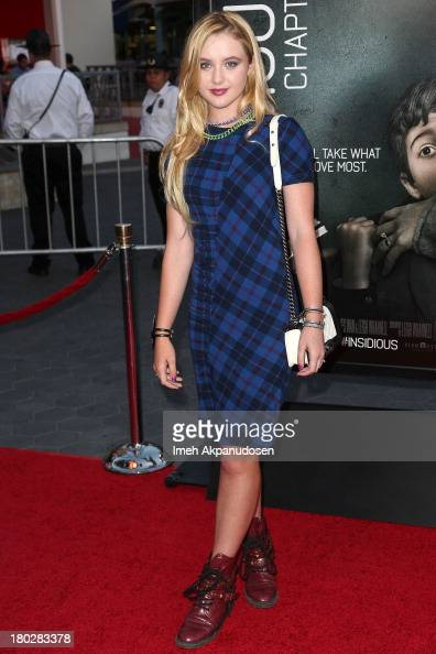 Actress Kathryn Newton attends the premiere of FilmDistrict's 'Insidious Chapter 2' on September 10 2013 in Universal City California