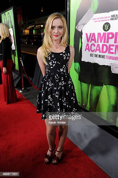 Actress Kathryn Newton attends the premiere of The Weinstein Company's 'Vampire Academy' at Regal Cinemas LA Live on February 4 2014 in Los Angeles...