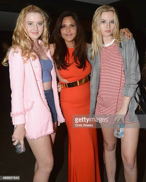 Actress Kathryn Newton owner/designer Laurie Lynn Stark and singer Grace McKagan attend Chrome Hearts Kate Hudson Host Garden Party To Celebrate...