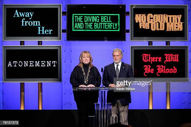 Actress Kathy Bates and Academy of Motion Picture Arts and Sciences President Sid Ganis announce the Best Writing Screenplay Based on Material...