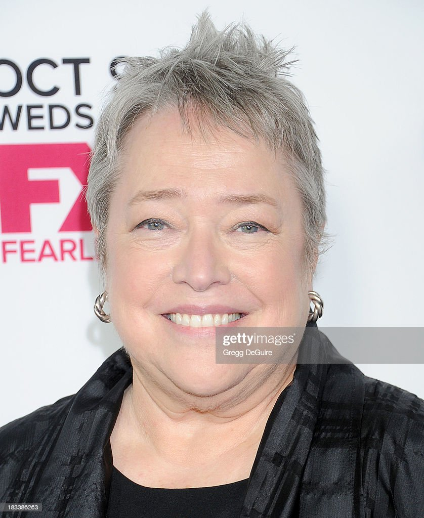 Actress <a gi-track='captionPersonalityLinkClicked' href=/galleries/search?phrase=Kathy+Bates+-+Actor&family=editorial&specificpeople=171565 ng-click='$event.stopPropagation()'>Kathy Bates</a> arrives at the Los Angeles premiere of FX's 'American Horror Story: Coven' at Pacific Design Center on October 5, 2013 in West Hollywood, California.
