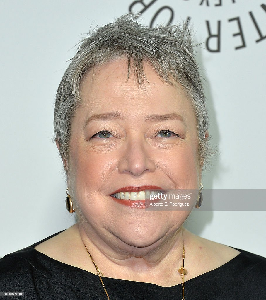 Actress <a gi-track='captionPersonalityLinkClicked' href=/galleries/search?phrase=Kathy+Bates+-+Actor&family=editorial&specificpeople=171565 ng-click='$event.stopPropagation()'>Kathy Bates</a> arrives at The Paley Center for Media's 2013 benefit gala honoring FX Networks with the Paley Prize for Innovation & Excellence at Fox Studio Lot on October 16, 2013 in Century City, California.