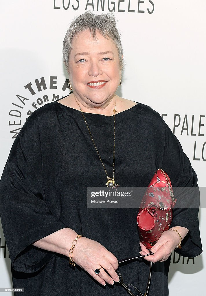 Actress Kathy Bates arrives at The Paley Center for Media's 2013 benefit gala honoring FX Networks with the Paley Prize for Innovation & Excellence at Fox Studio Lot on October 16, 2013 in Los Angeles, California.