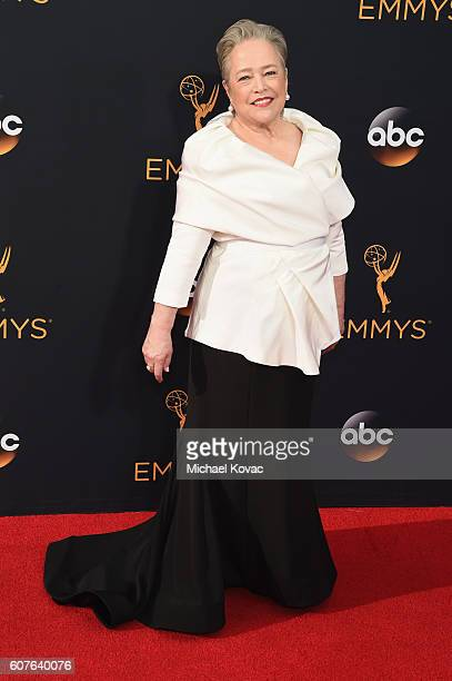 Actress Kathy Bates attends 68th Annual Primetime Emmy Awards at Microsoft Theater on September 18 2016 in Los Angeles California